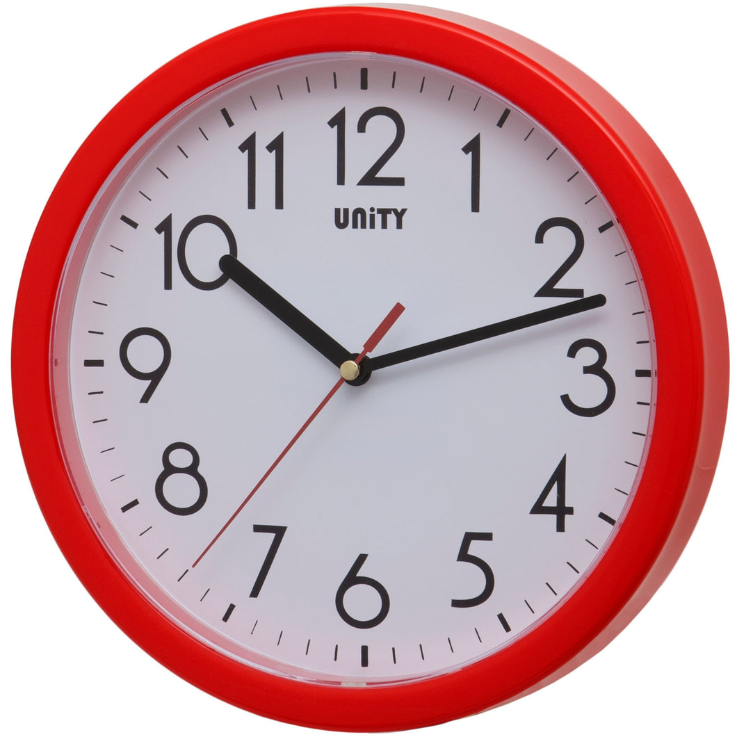 Hastings Red Wall Clock