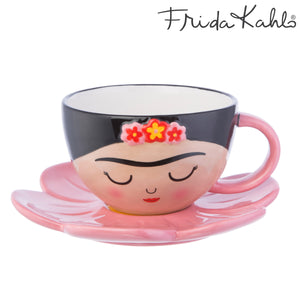 Sass and Belle Frida Khalo Cup and Flower Saucer Set