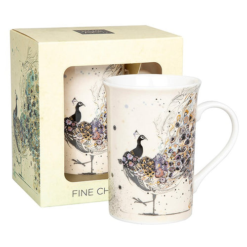 Bug Art Gorgeous Peacock Design Mug