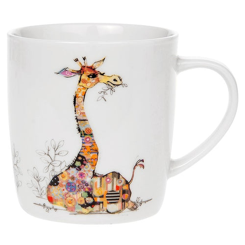 Bug Art Collection Kooks Gerry Giraffe Fine China Mug Gift Boxed