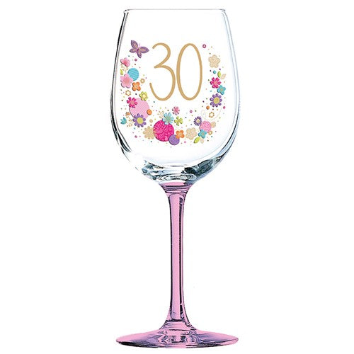 Lulu Design 30th Birthday Wine Glass