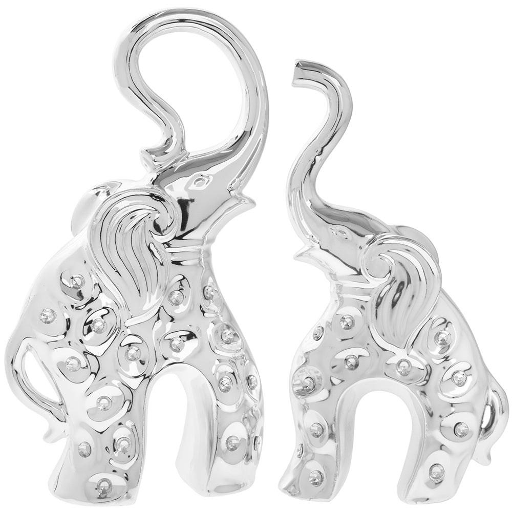 Pair of Silver Elephants