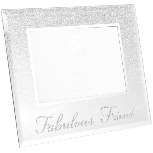 Fabulous Friend Silver Glitter Photo Frame