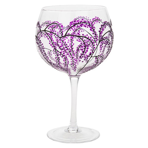 Hand Decorated Gin Glass