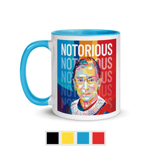 Notorious RBG Mug with Color Inside