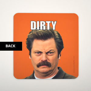 Clean Dirty Dishwasher Magnet - Parks and Rec Ron Swanson