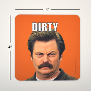 Clean Dirty Dishwasher Magnet - Ron Swanson Magnet