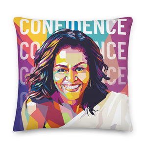 Michelle Obama Inspirational Throw Pillow
