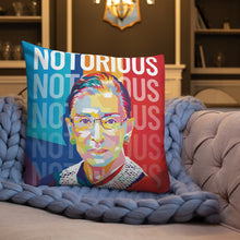 Load image into Gallery viewer, Ruth Bader Ginsburg Notorious RBG Throw Pillow