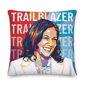 Kamala Harris Trailblazer Inspirational Throw Pillow