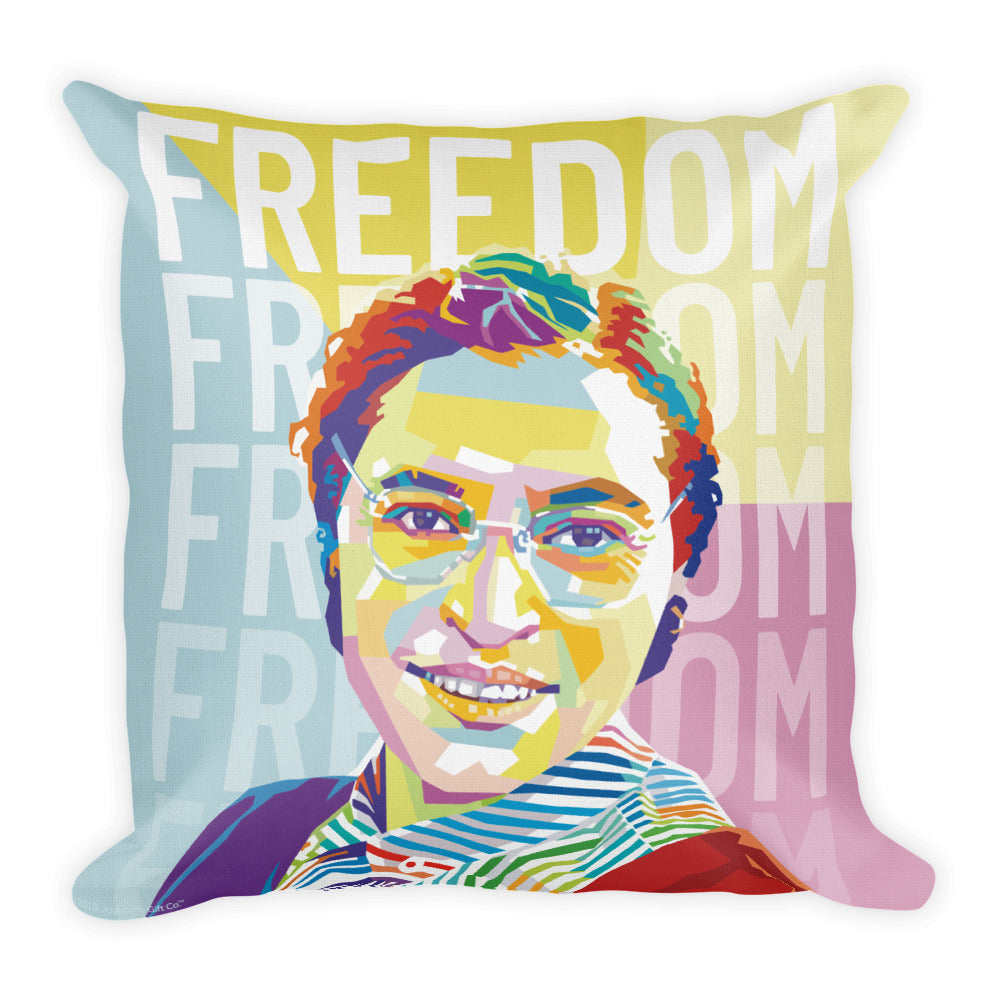 Freedom - Rosa Parks Throw Pillow - 18x18
