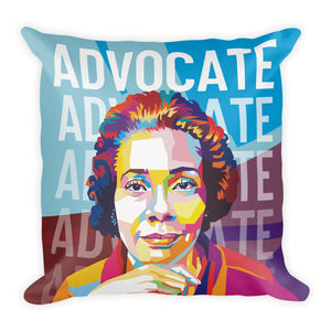 Advocate - Coretta Scott King Throw Pillow - 18x18""
