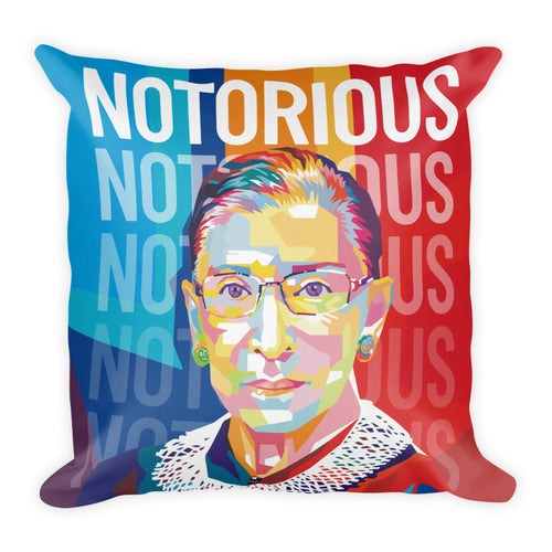 Notorious RBG - Ruth Bader Ginsburg Throw Pillow – 18×18″