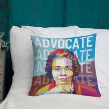 Load image into Gallery viewer, Advocate - Coretta Scott King Throw Pillow - 18x18""