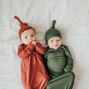 Matcha Green Baby Knot Gown