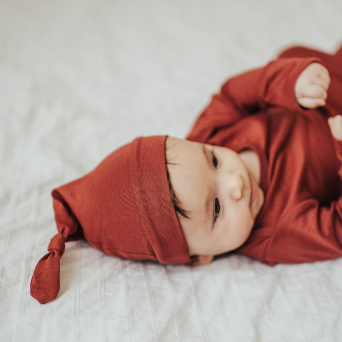 Red Maple Baby Knot Cap