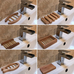eco wood soap dish  no plastic