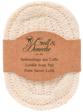 Load image into Gallery viewer, Loofah soap dish pad natural
