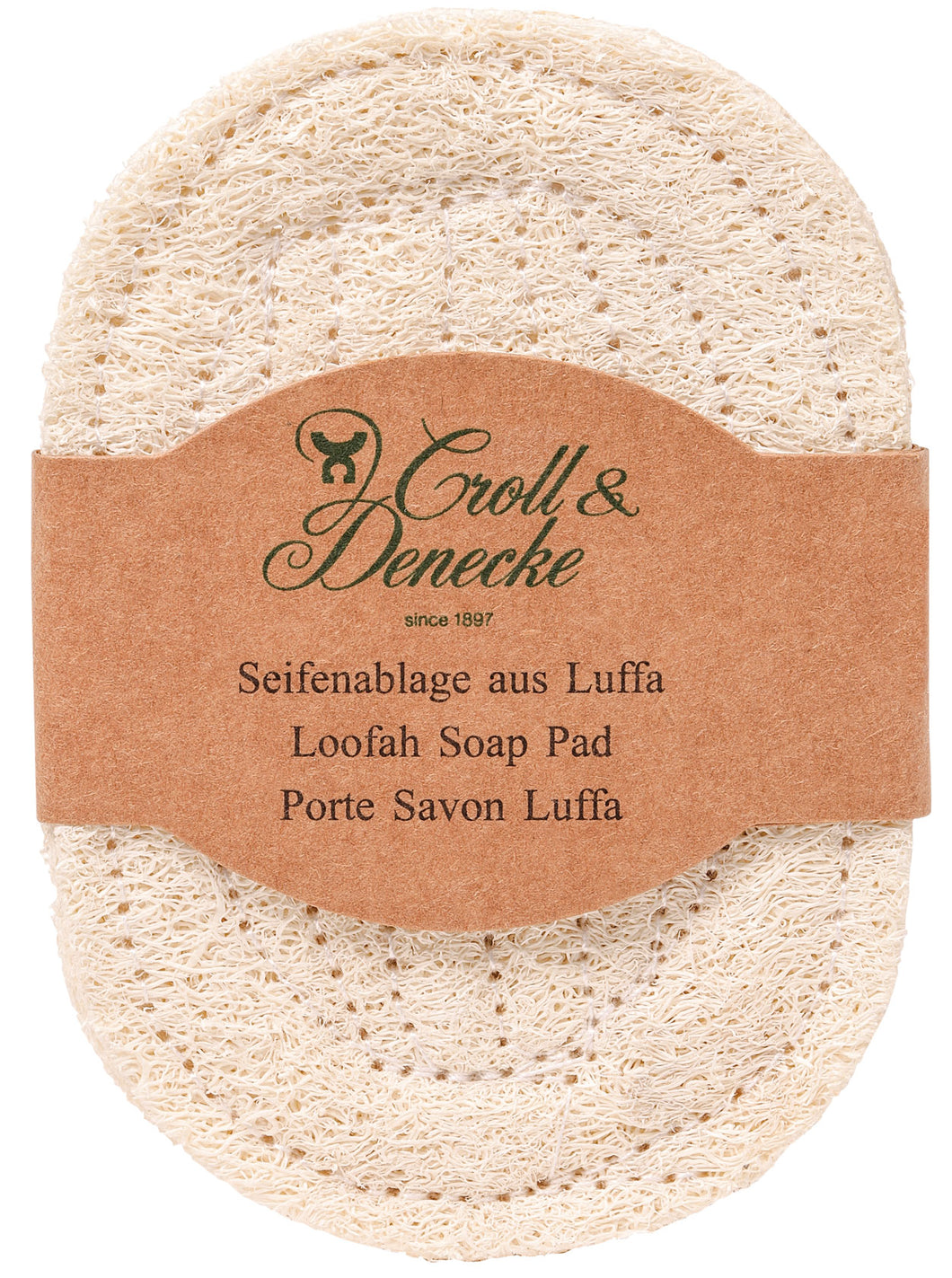 Loofah soap dish pad natural