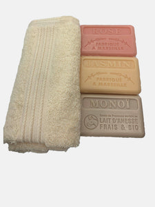 Flora fragrance soap collection and face cloth