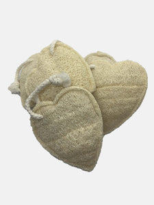 loofah heart body scrub