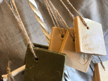 "Load image into Gallery viewer, Savon De Marseille French Soap on a Rope ""Tranche"" Traditional Olive Oil 72%"