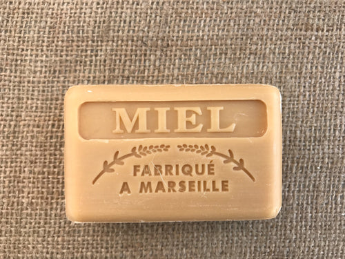 natural french honey soap miel
