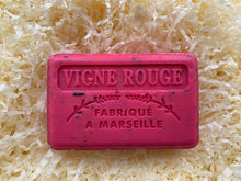 Load image into Gallery viewer, red wine vine exfoliating french natural soap