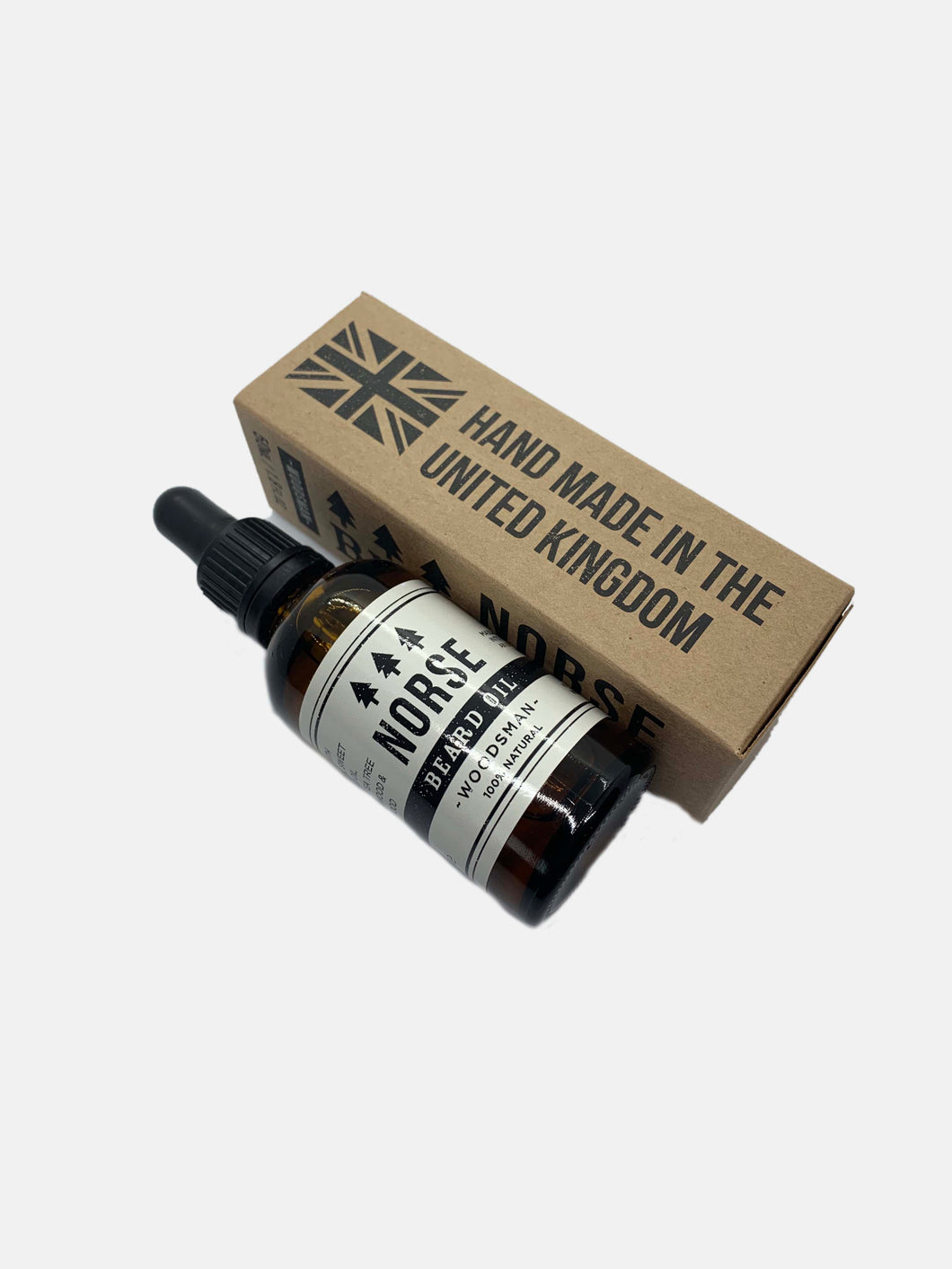 Norse premium beard oil Woodsman handmade in uk vegan freindly