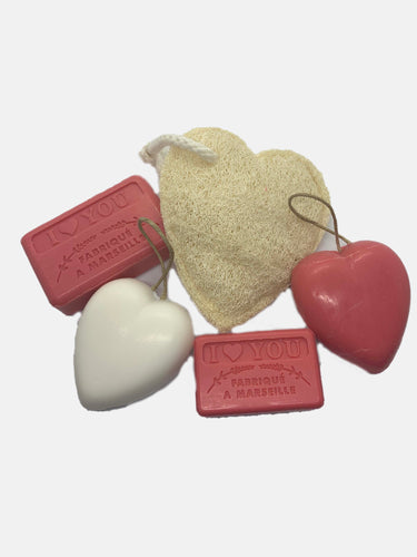 Valentines gift set french natural soap