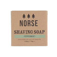 Load image into Gallery viewer, Norse shaving soap with peppermint
