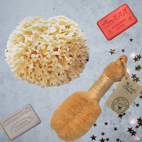 sponge soap body brush gift set