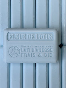 lotus flower french soap with donkey milk