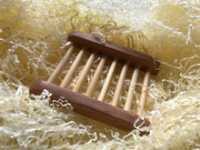 Load image into Gallery viewer, wood ladder soap dish bamboo