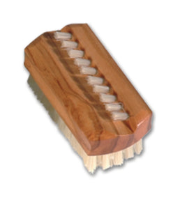 premium olive wood nail brush