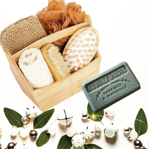 bamboo box bath spa gift set soap