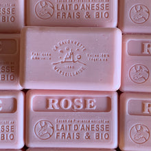 Load image into Gallery viewer, 100g Organic Lait D'Anesse Rose French Soap Bar