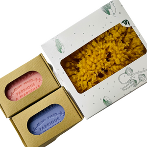 Natural Sea Sponge & French Soap Gift Set