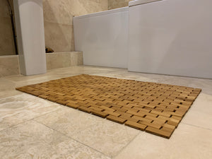 wellness bamboo bath mat