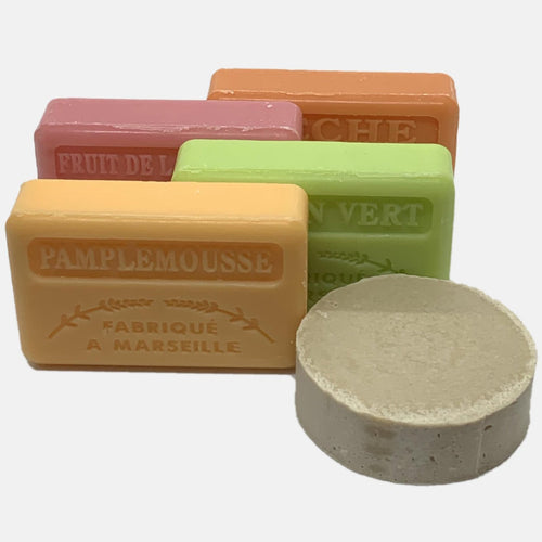 Four Fruity French Soaps & Solid Shampoo gift set