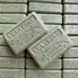 Verbena exfoliator vegan soap bar