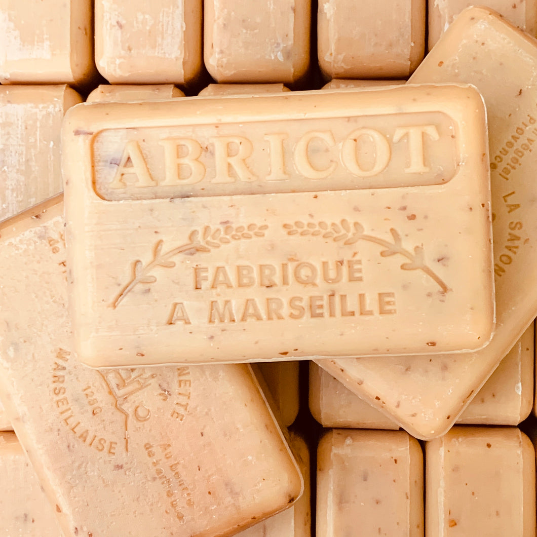 apricot exfoliating french soap