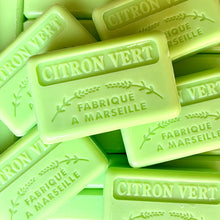 Load image into Gallery viewer, 125G Savon De Marseille (Citron Vert) Lime Soap Bar