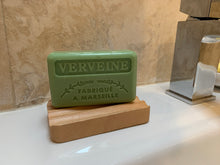 Load image into Gallery viewer, grooved soap dish example with soap bar