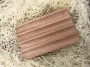 Grooved Wooden Soap dish from Indian Hemu wood