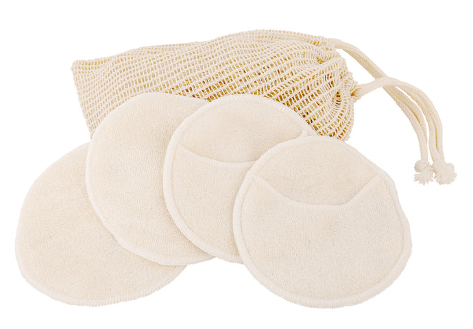 Ramie bag with facial cleansing pads