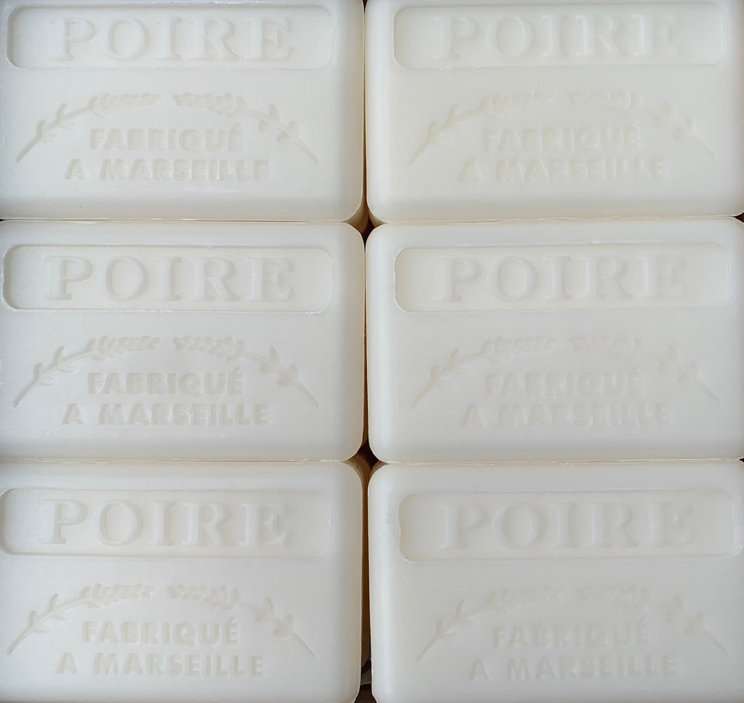 french pear poire soap bar