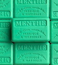 Load image into Gallery viewer, mint french soap marseille