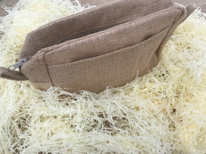 Jute wash & travel bag