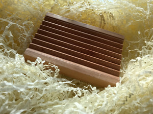 Ridged Soap dish from Indian Hemu wood
